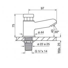Griferia Baño Fv Pressmatic Canilla Automática Lavatorio 361
