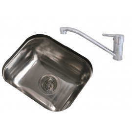 Bacha Cocina Johnson Simple + Griferia Monocomando Peirano