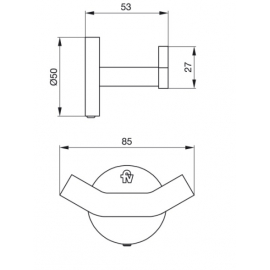 Accesorio Baño Fv Percha Nebraska 166/D5 Cromo Foschia