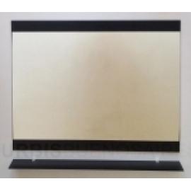 Espejo De Baño Urbis Fun Negro C/Estante 60X76 Ev F60 Ne