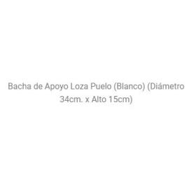 Bachas Baño Apoyo Daccord Puelo New