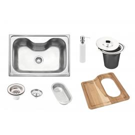 Bacha De Cocina Morgana Tramontina Con Kit Accesorios 60Fx