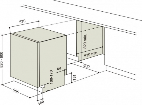 Lavavajilla Paneleable Ariston 15 Cub Lio3P23