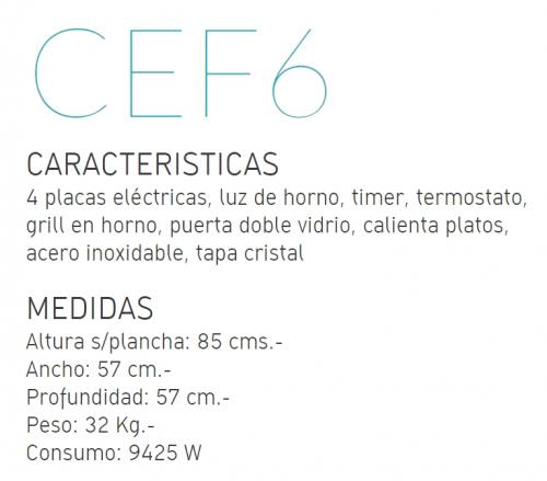Cocina Domec Euromatic Electrica 4 Placas Inox Cef6