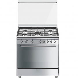 Cocina A Gas Smeg Con Grill Electrico 90 Cm Sx91Gve9 - Ar