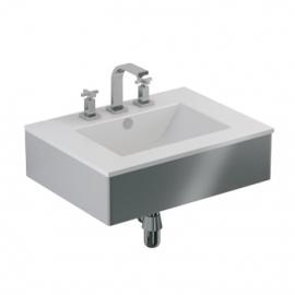 Conjunto Mueble De Baño Y Mesada Ferrum Cadria W6X3T Blanco