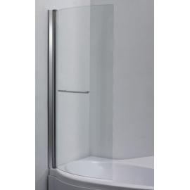 Mampara Incolora Perfil Aluminio Blanco 0.80X1.40 - Curva
