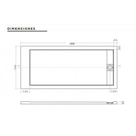 Receptaculo Aquaglass De Ducha Rectang 150X70 Dtc