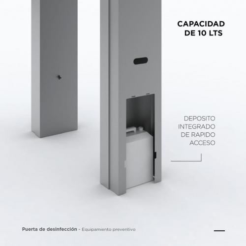 Cabina Sanitizante Tst 2M X 0,95M X 0,35M Acero Inox Oferta