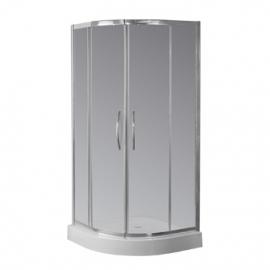 Cabina Semicir Vidrio Transparente Perfil Bco Ferrum Nc9Qz