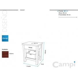 Mueble Campi Legno 60 Habano L60M