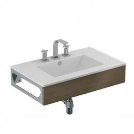 Conjunto Mueble De Baño Y Mesada Ferrum Cadria W7X3T